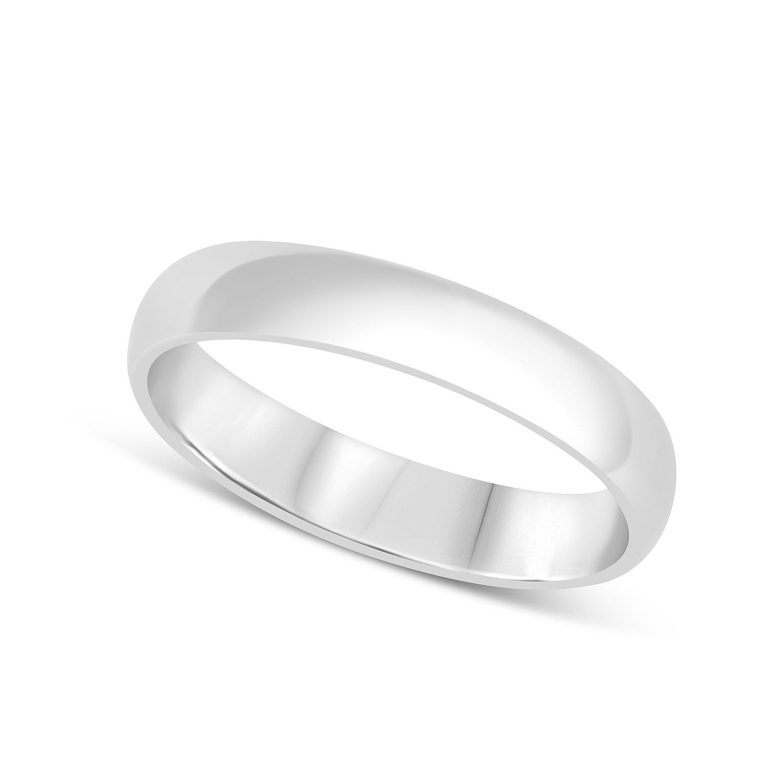 Platinum 4mm Gents Wedding Ring
