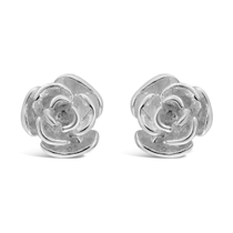 Sterling Silver Small Rose Stud Earrings