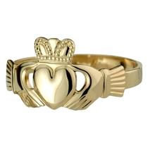 14ct Puffed Heart Maids Extra Heavy Claddagh