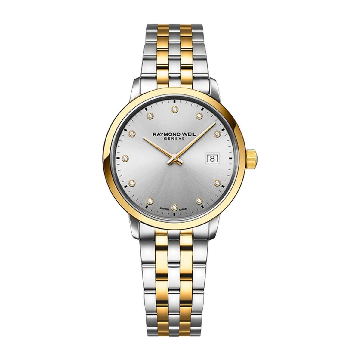 Raymond Weil Toccata Diamond Set Two Tone Bracelet 29mm Ladies Watch