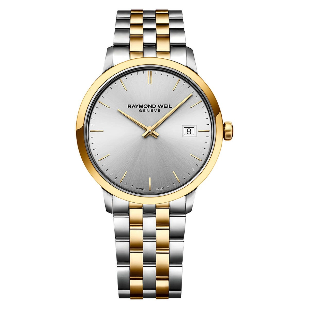 Raymond Weil Toccata Silver Dial Two Tone 39mm Mens Watch