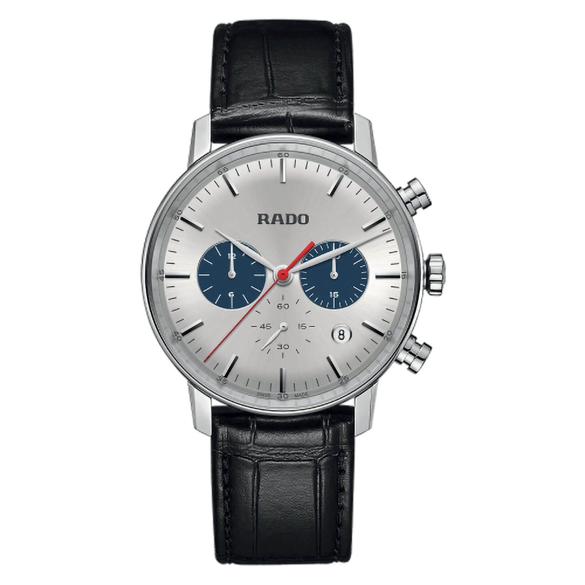 Rado XL Coupole Classic Chronograph Black Strap 42mm Mens Watch