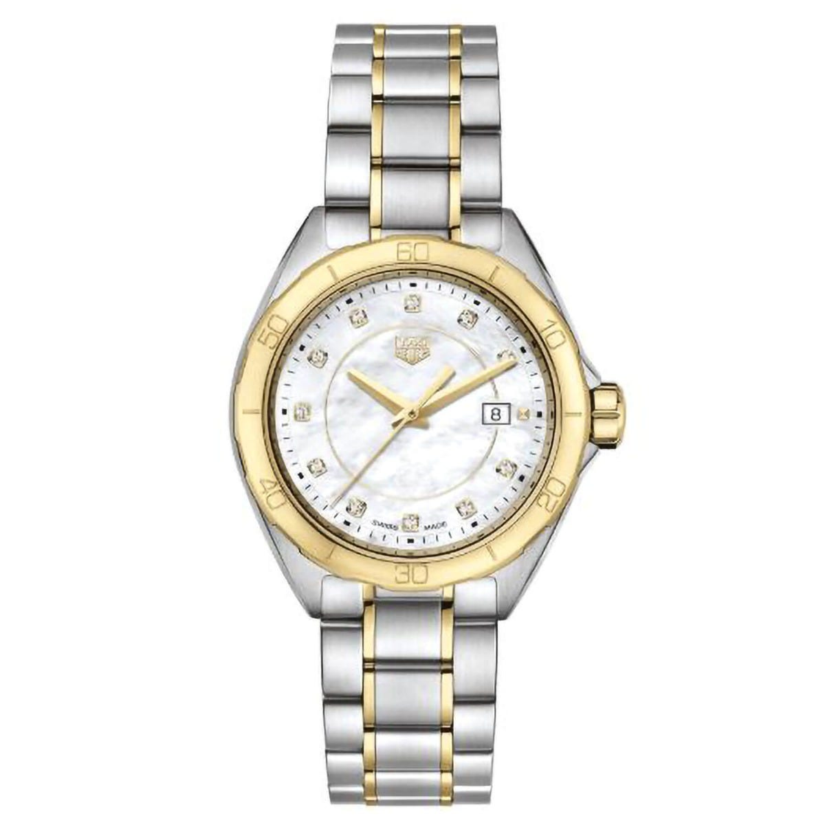 Tag F1 Diamond Set Mother of Pearl Two Tone 32mm Ladies Watch