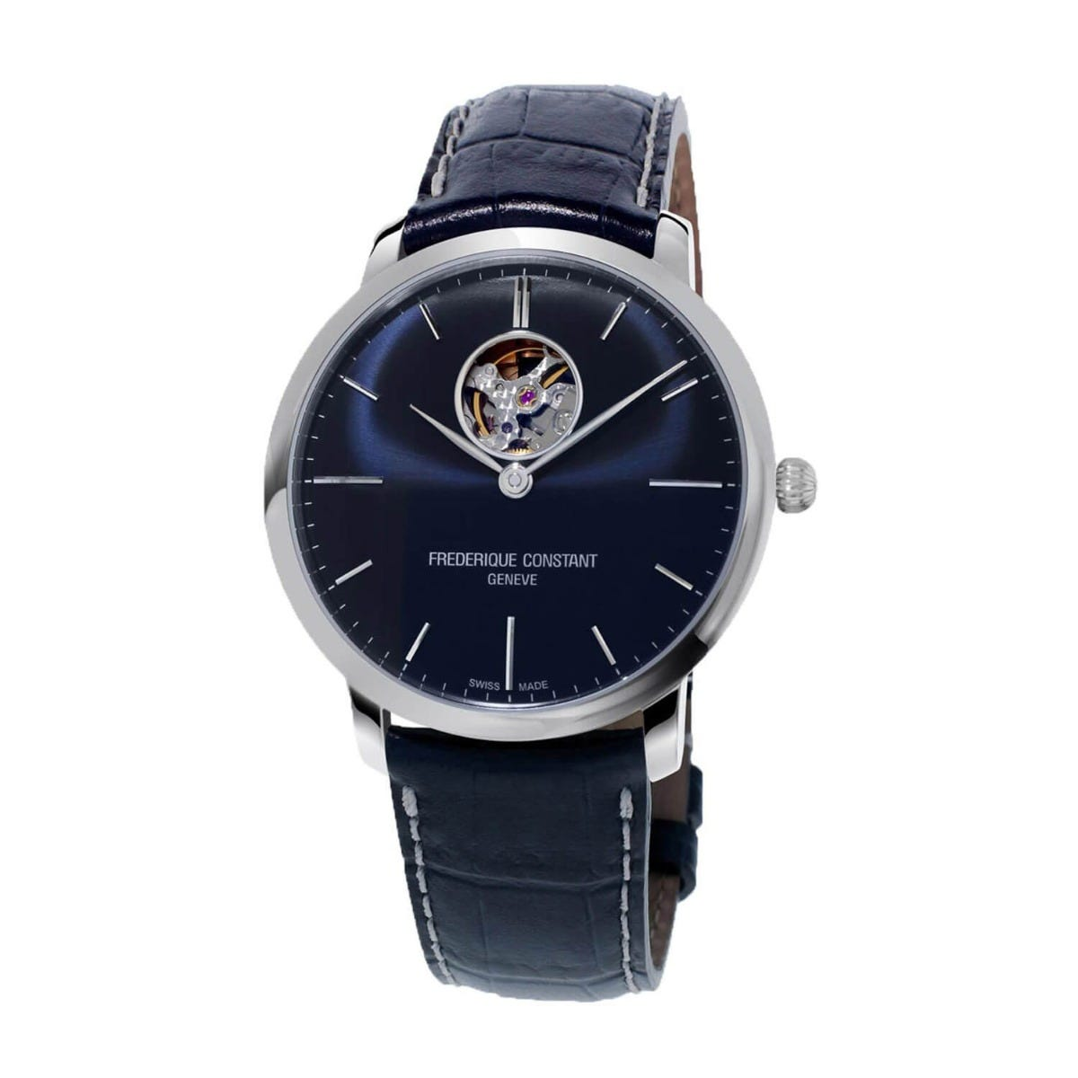 Frederique Constant Slimline Automatic Blue Dial & Strap 40mm Mens watch