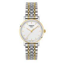 Tissot Everytime White Dial Two tone Bracelet 30mm Ladies Watch
