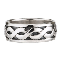 Sterling Silver Celtic Band Wide Ring