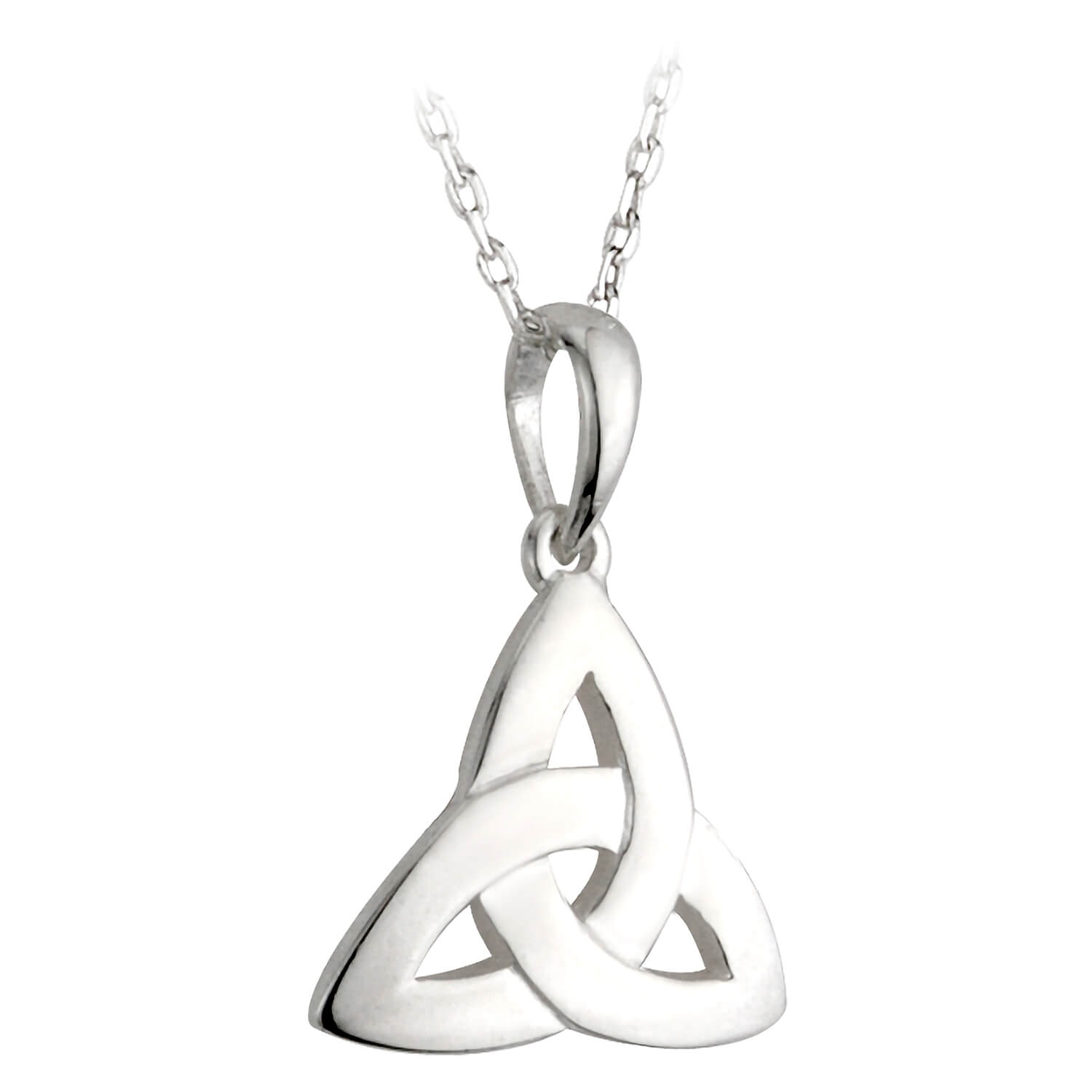 Sterling Silver Small Trinity Knot Pendant.
