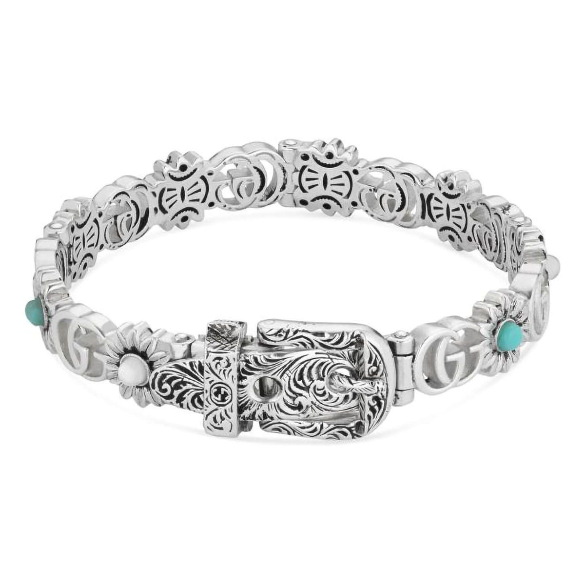 Gucci GG Marmont Silver Mother of Pearl Topaz Bracelet