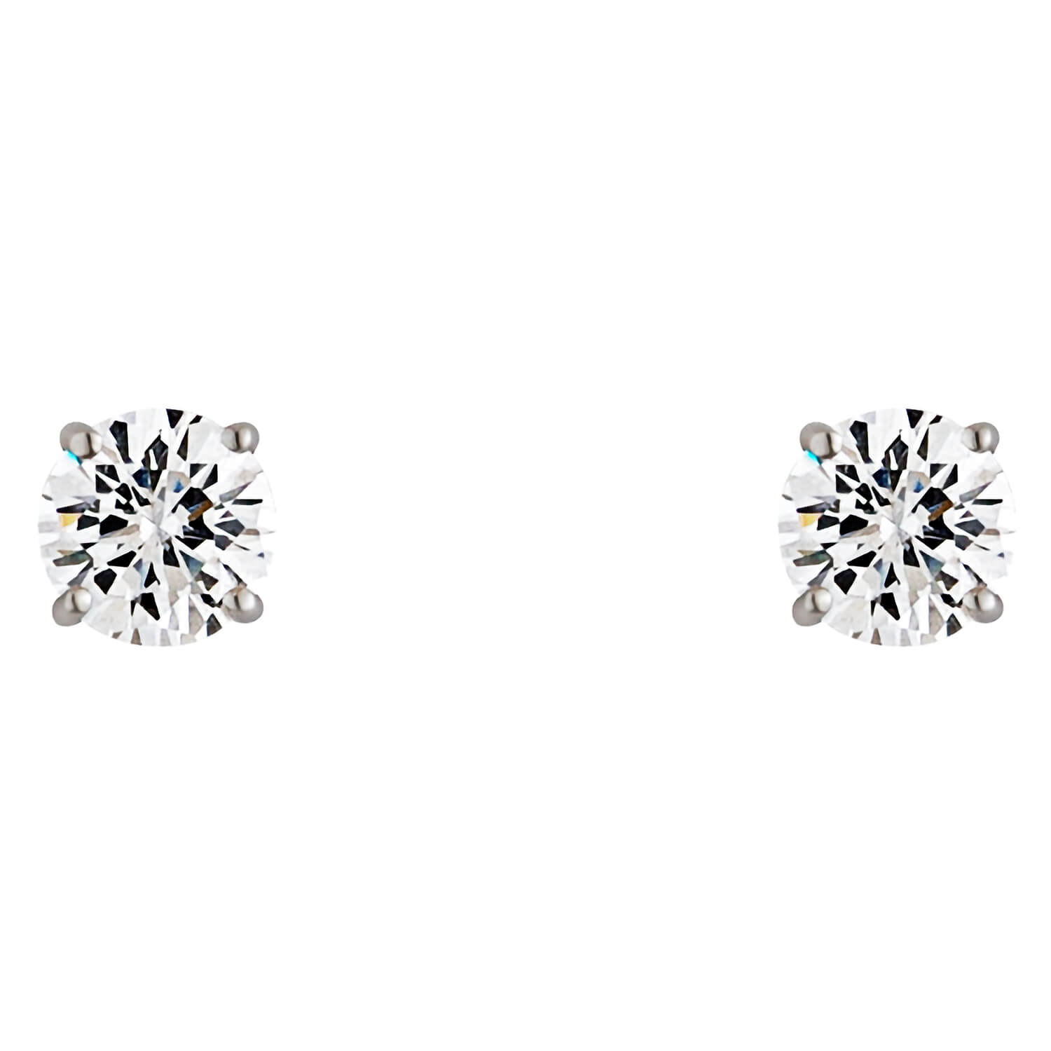 9ct White Gold Cubic Zirconia Stud Earrings
