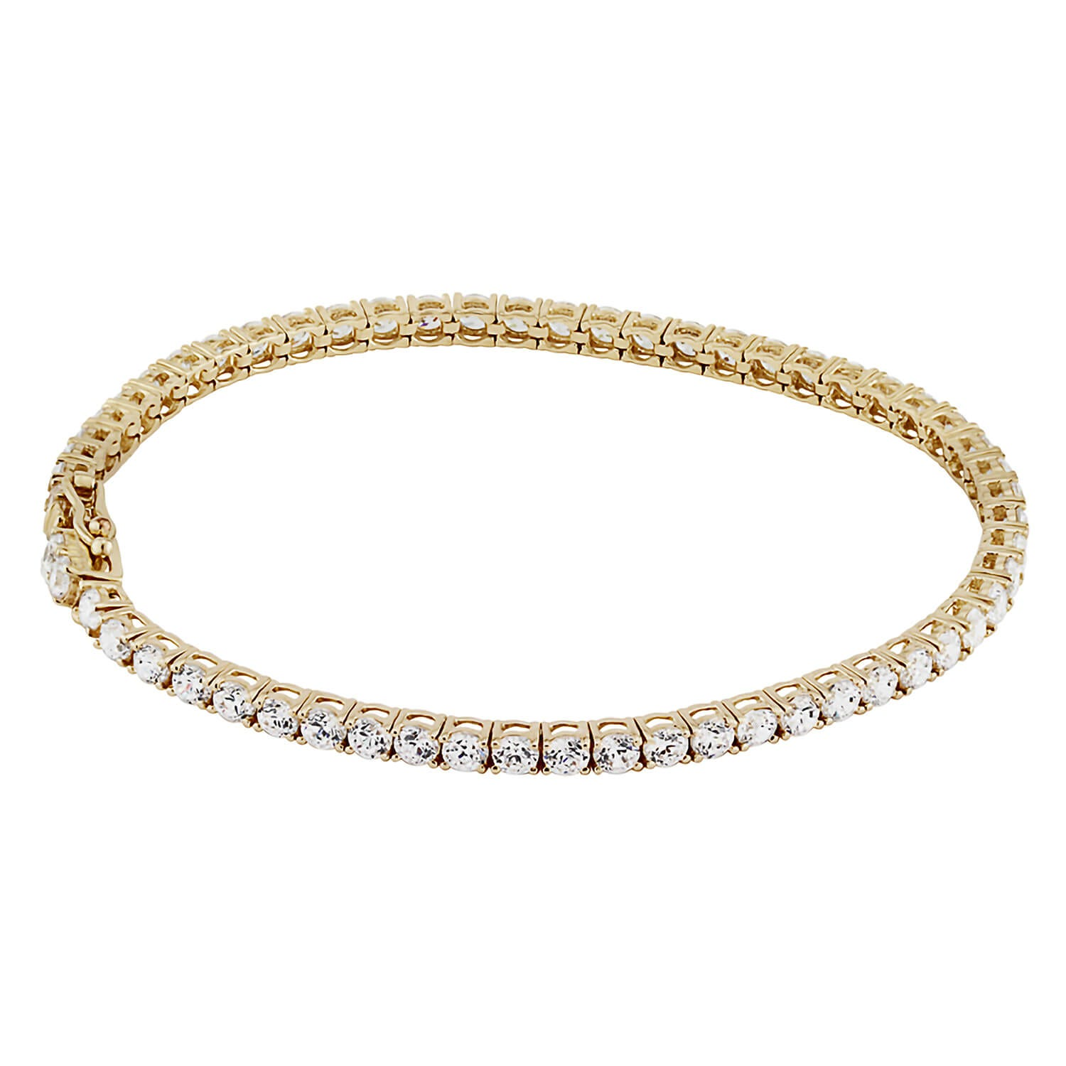 9ct Gold and Cubic Zirconia Bracelet