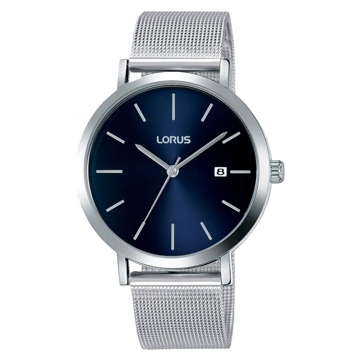 Lorus Navy Dial Mesh Bracelet 38mm Mens Watch