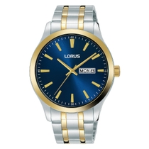 Lorus Blue Dial Two Tone Stainless Steel Mens Watch