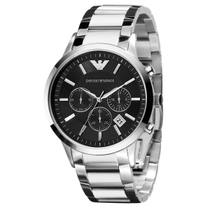 Emporio Armani Classic Chronograph Steel 43mm Men's Watch