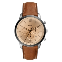 Fossil Gents Neutra Chronograph Brown Leather Watch