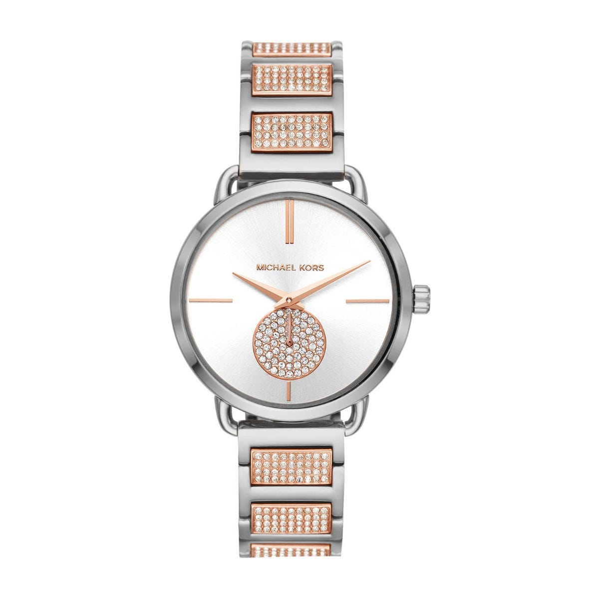 Michael Kors Portia Pavé Two-Tone Ladies Stainless Steel Watch