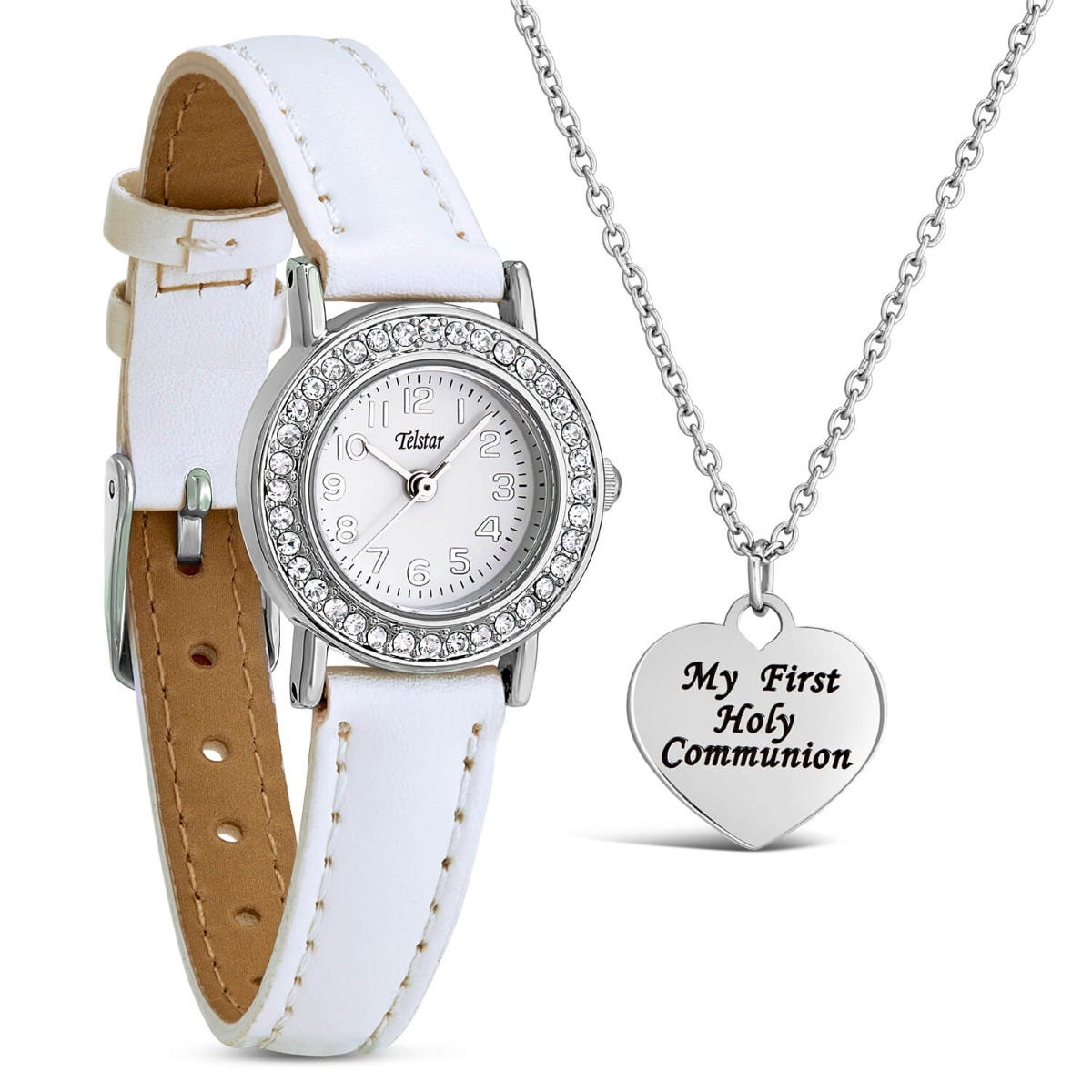 Telstar Crystal Watch & Communion Necklace Set