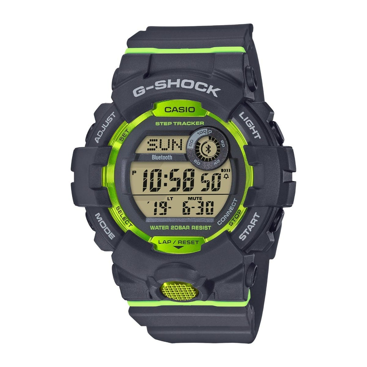 Casio G-Shock Green/Black Digital Dial Black Strap Watch