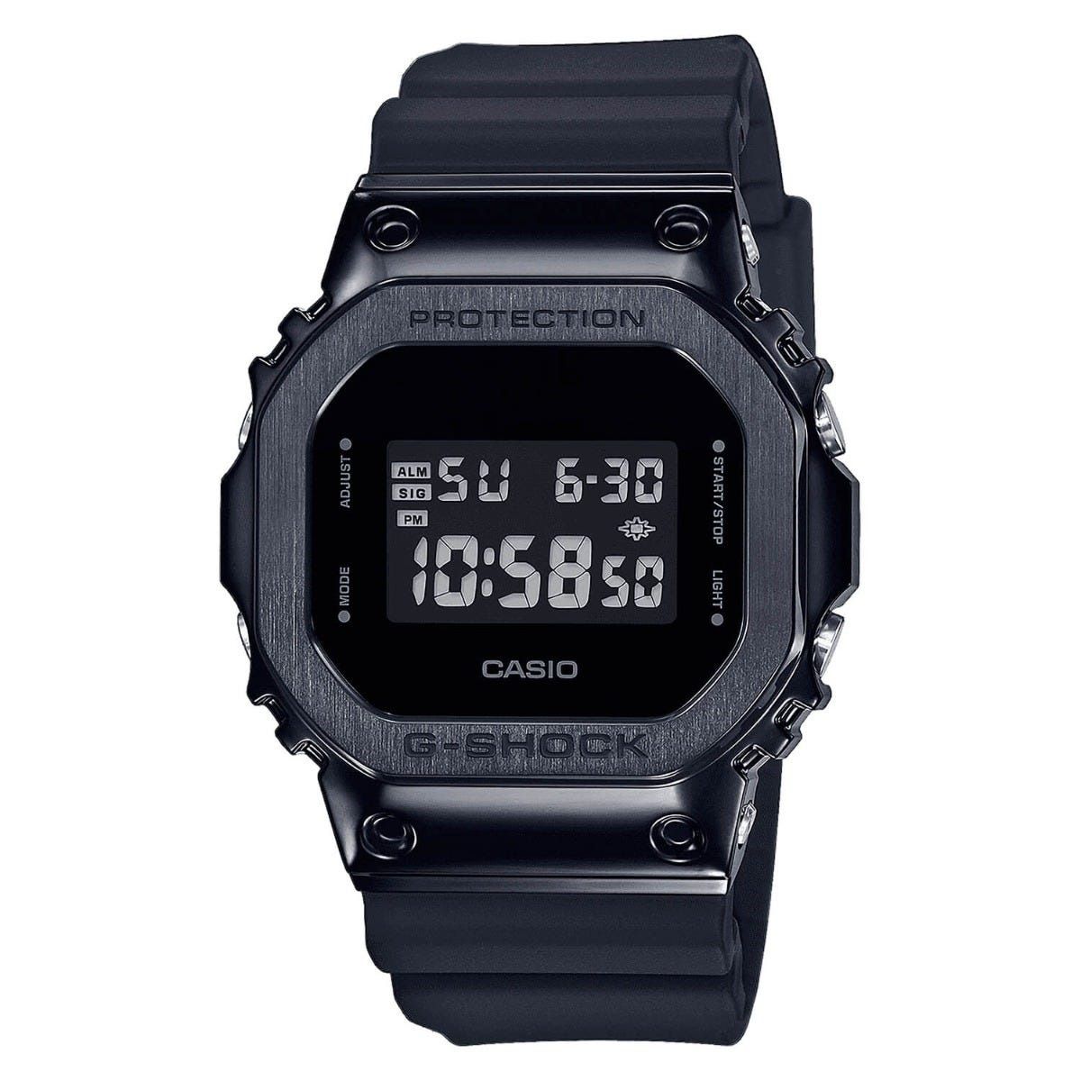 Casio G-Shock Square Black Dial Black Resin Strap Mens Watch
