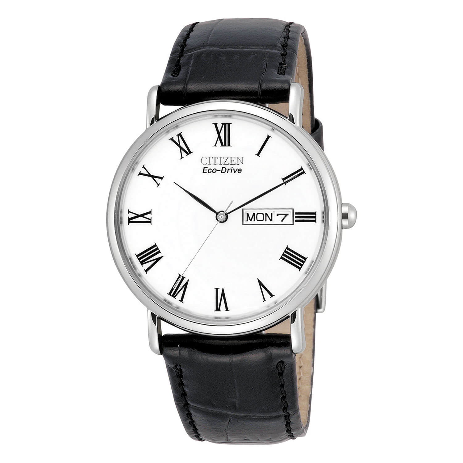 Citizen Round White Dial and Stainless Steel Bezel