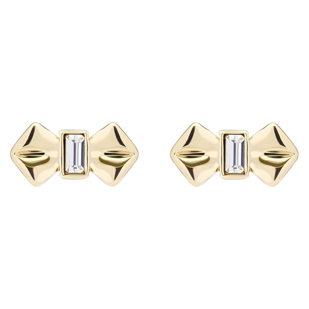 Ted Baker Susiee Gold Plated Crystal Solitaire Bow Stud Earrings