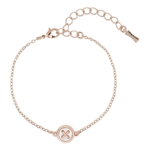 Ted Baker Brenna Rose Gold Plated Mother of Pearl Button Bracelet