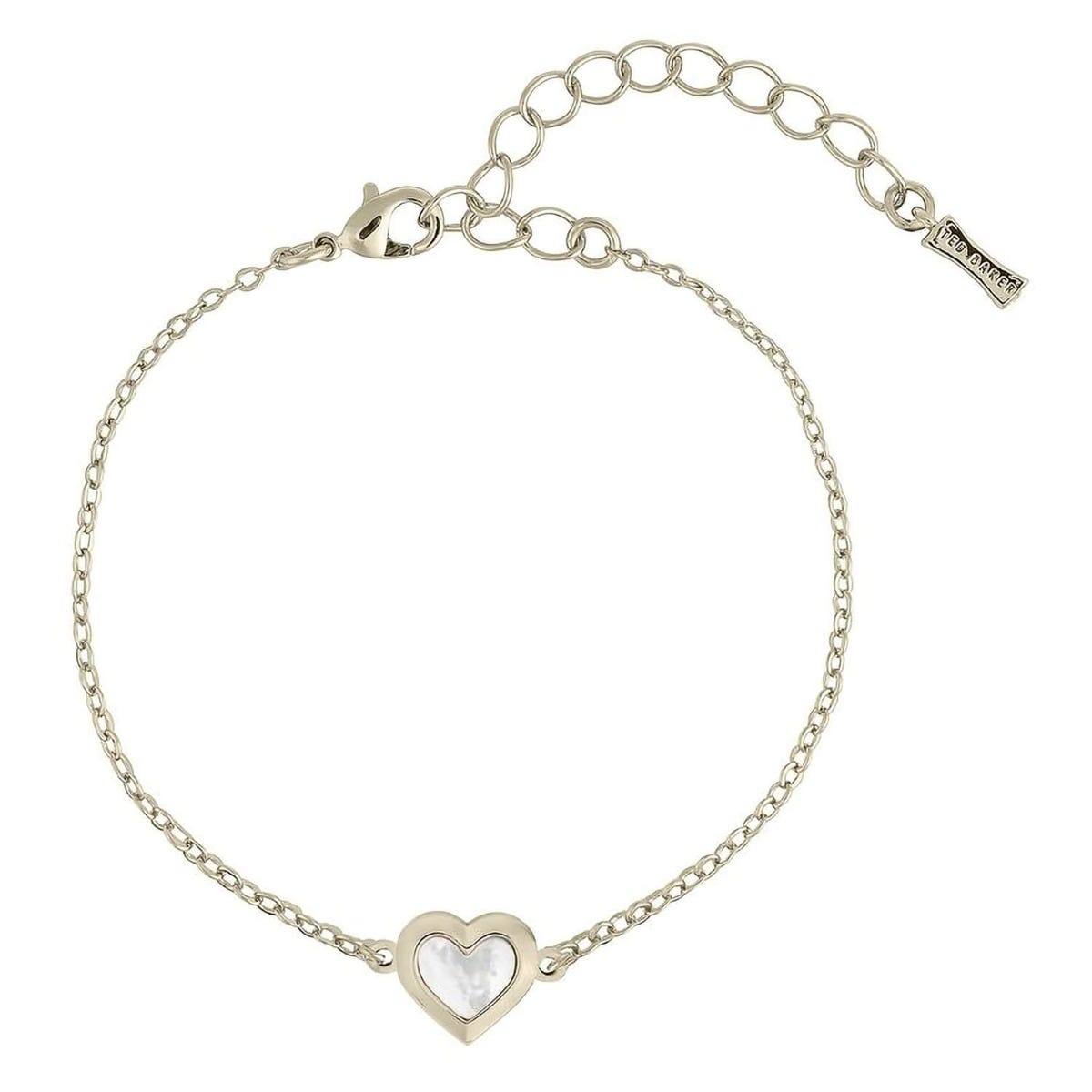 Ted Baker Heleem Gold Plated Mother of Pearl Heart Bracelet