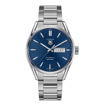 TAG Heuer Carrera automatic men's blue dial Stainless Steel bracelet watch