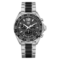 TAG Heuer Formula 1 men's chronograph black ceramic and Stainless Steel bracelet watch