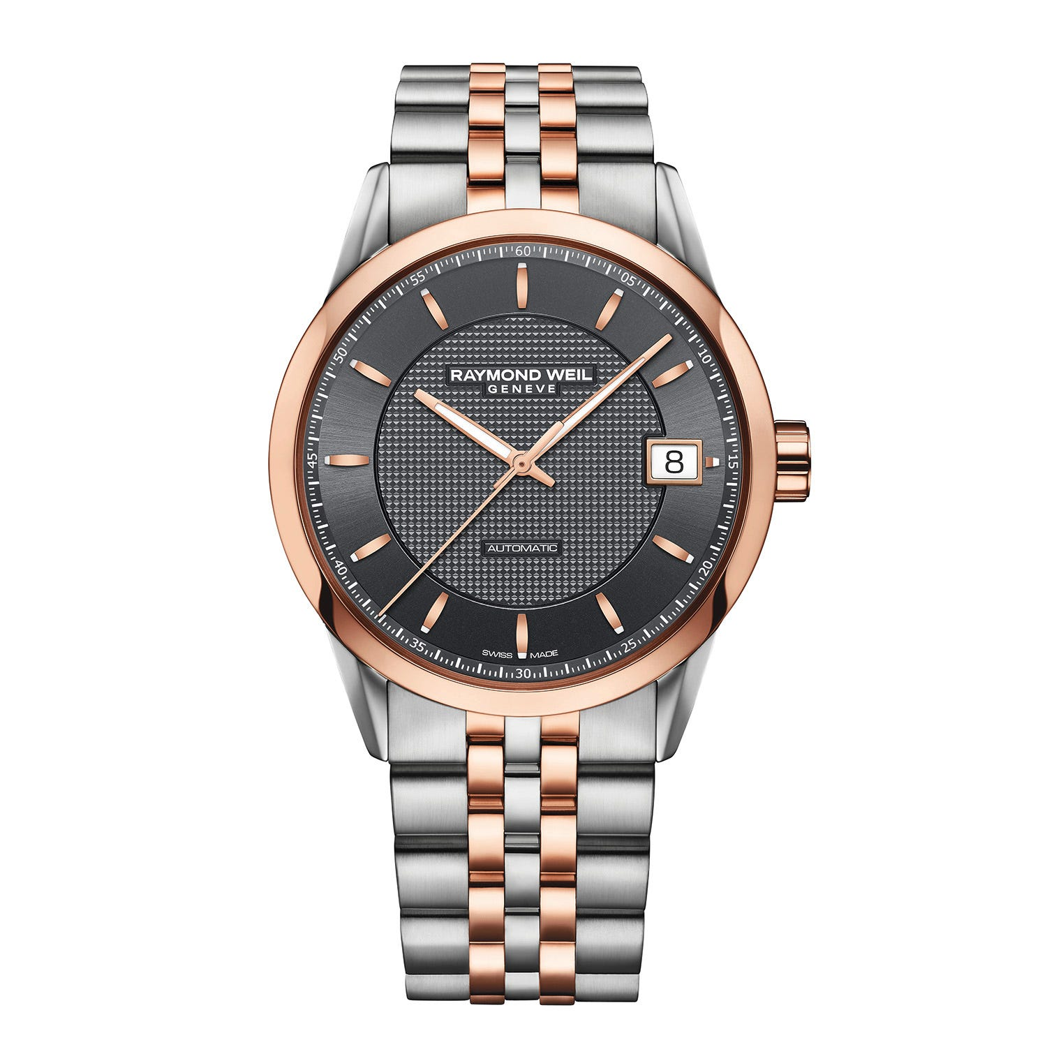 Raymond Weil Freelancer Men's Automatic Rose Gold-Tone And Stainless Steel Bracelet Watch