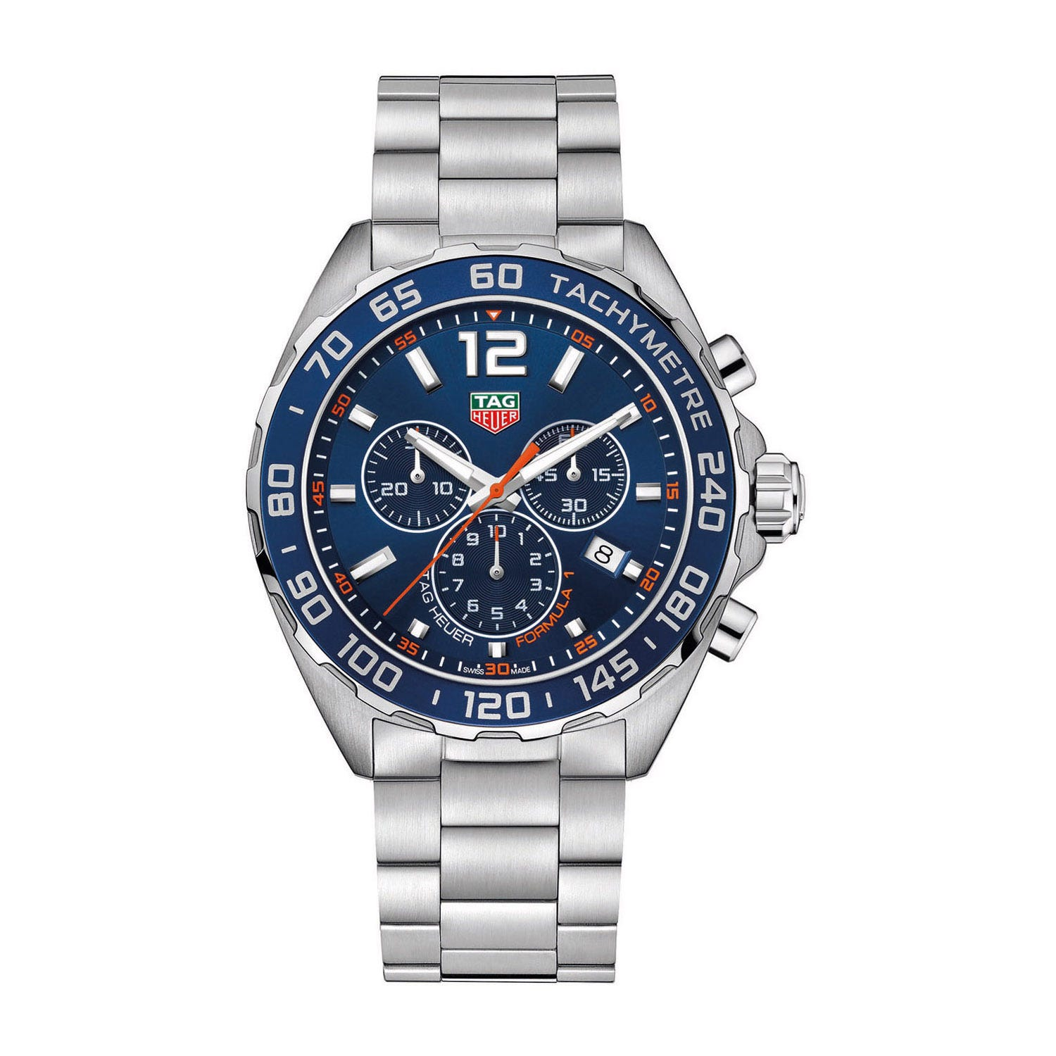 Tag F1 Blue Chronograph Dial Stainless Steel Case And Bracelet