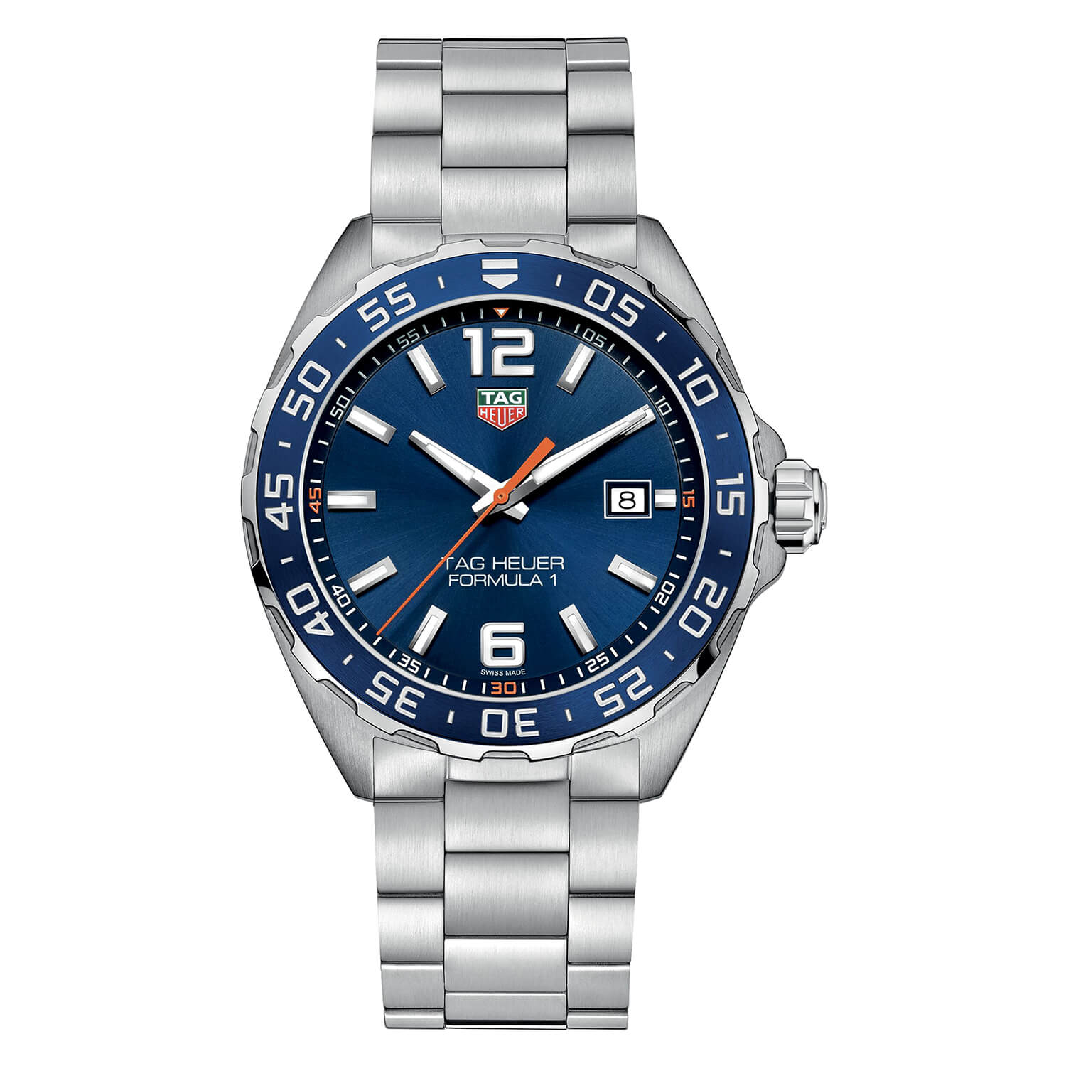 TAG F1 BLUE DIAL BLUE BEZEL STEEL CASE AND BRACELET