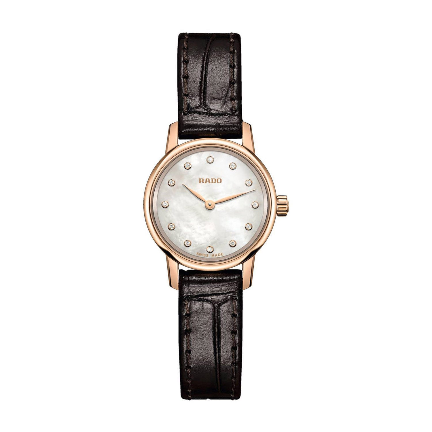 Rado Coupole Classic Mini Ladies' Mother of Pearl Dial Leather Strap Watch
