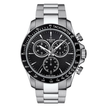 Tissot T-Sport V8 Chronograph men's black dial stainless steel watch