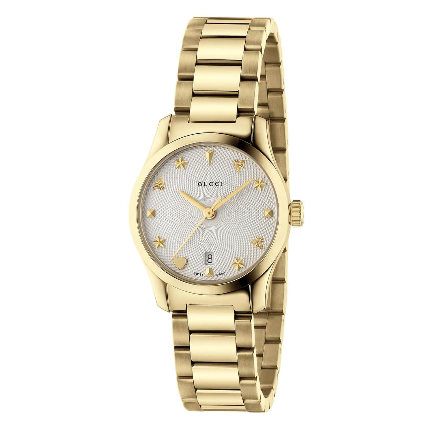 Gucci G-Timeless Gold PVD Ladies Watch