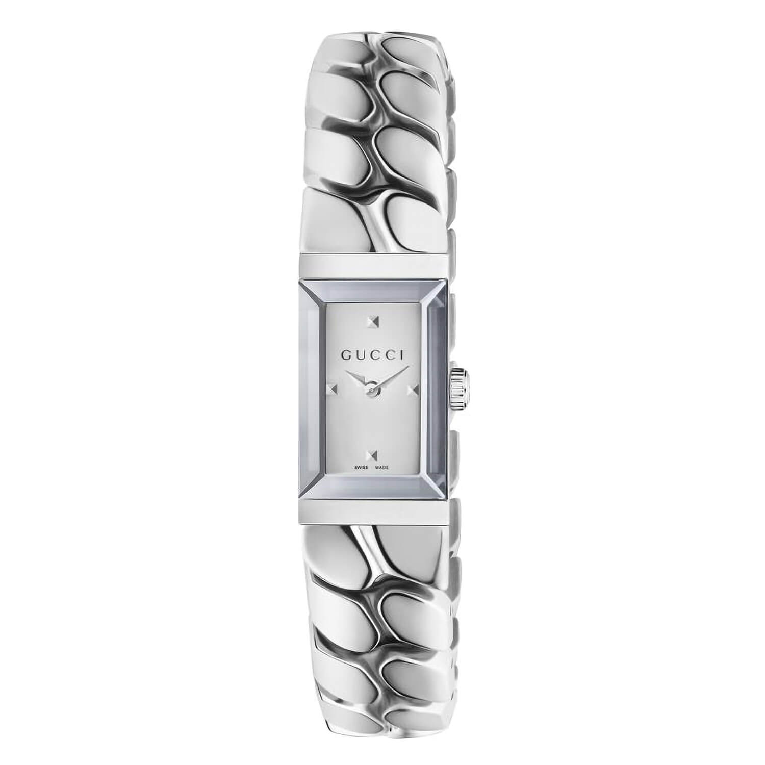 Gucci G-Frame Mirror Silver Dial Chain Style Bracelet Ladies' Watch