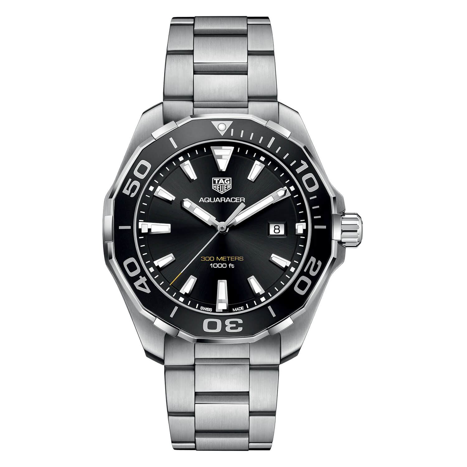 TAG Heuer Aquaracer Black Dial Steel 43mm Men's Watch