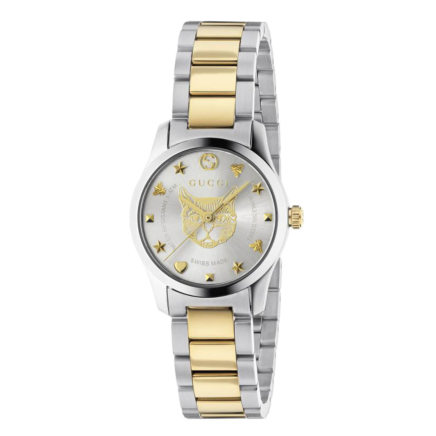 Gucci G-Timeless Feline (Cat) Two Tone Steel 27mm Ladies' Watch