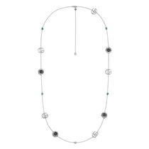 Gucci GG Marmont Sterling Silver Station Necklace