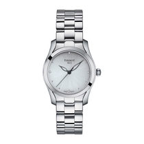 Tissot T-Wave Silver Diamond Dial Steel Bracelet Ladies' Watch