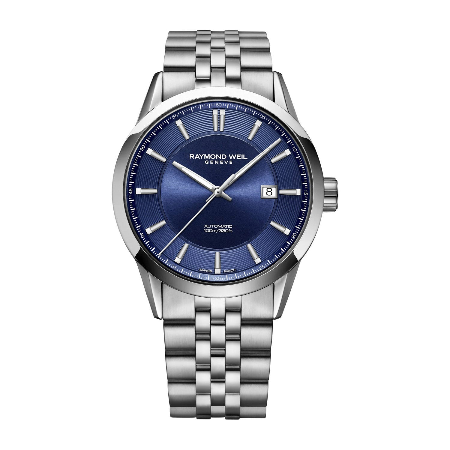 Raymond Weil Freelancer Blue Dial Steel 42mm Men's Watch