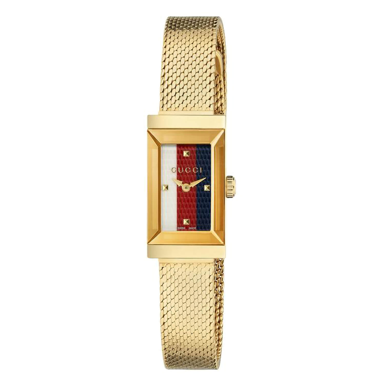 Gucci G-Frame Yellow Gold Mesh 25mm Ladies' Watch