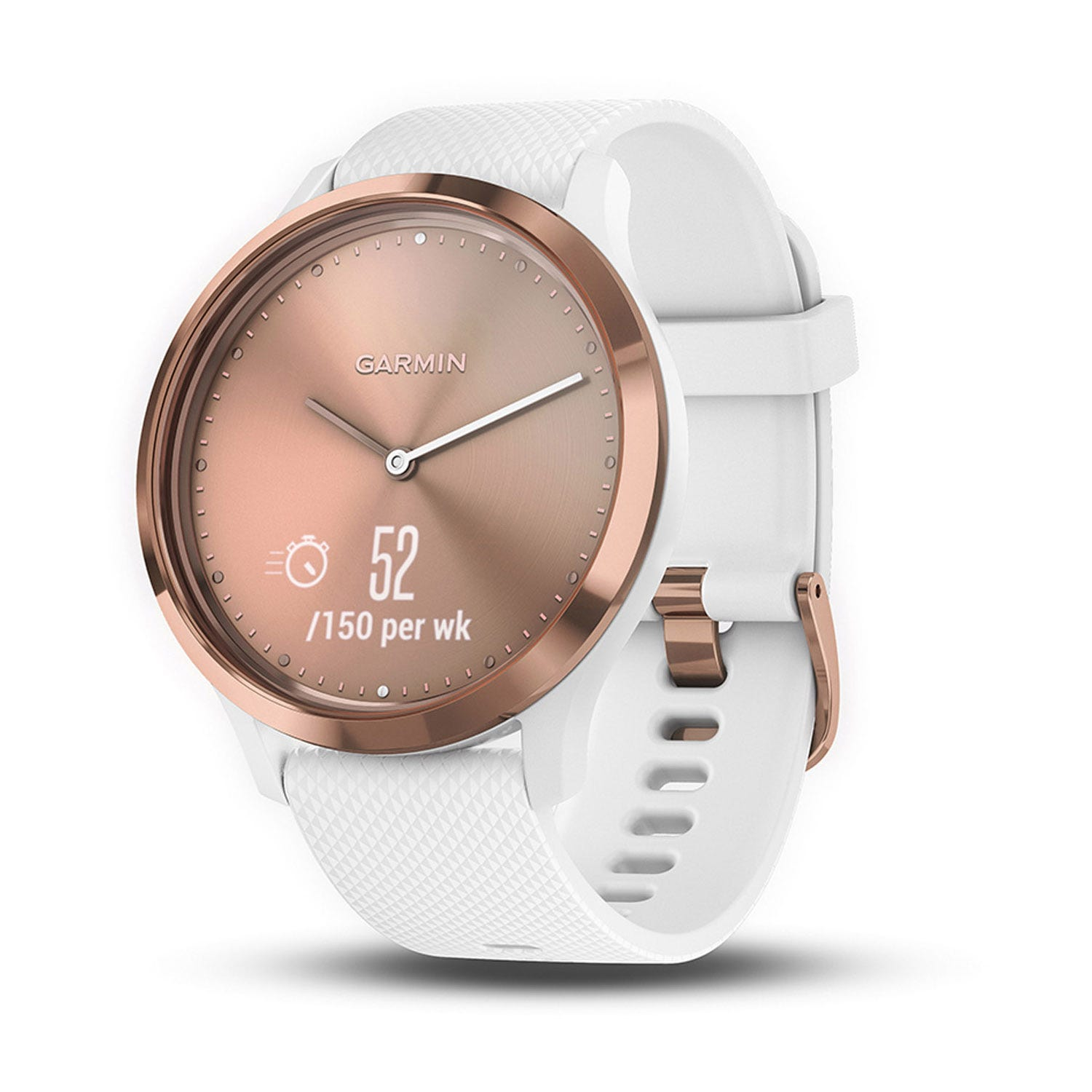 Garmin vivomove HR Rose Gold & White 43mm Smartwatch