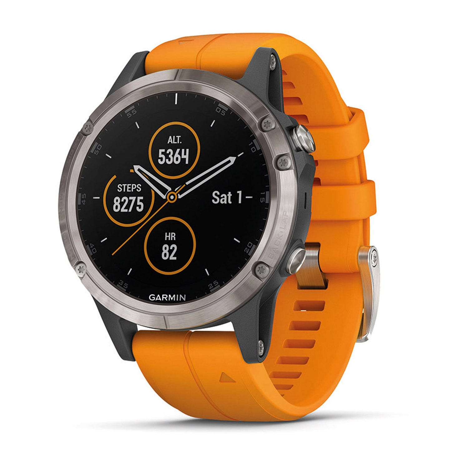Garmin fenix 5 Plus Solar Flare Orange 47mm Smartwatch