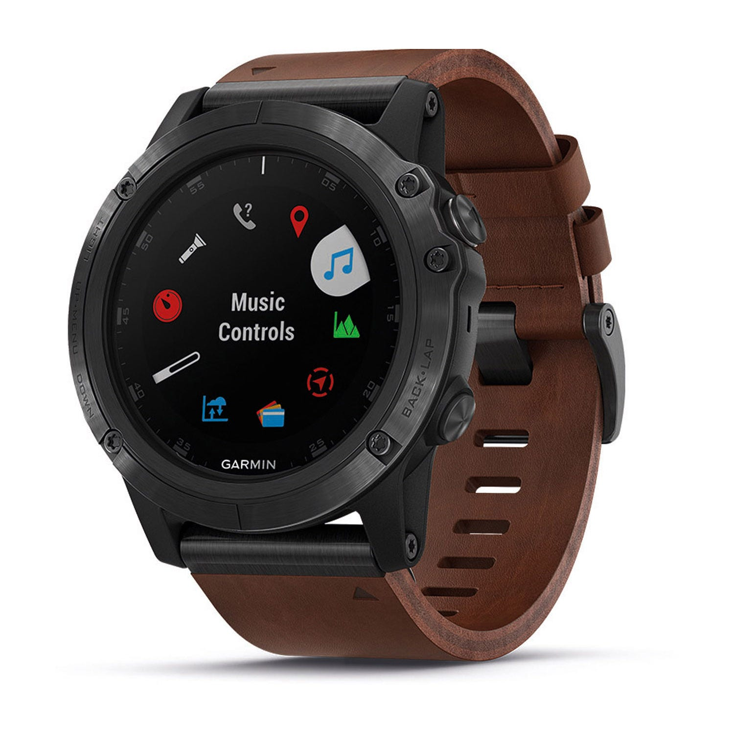 Garmin fenix 5X Plus Brown Leather 51mm Smartwatch