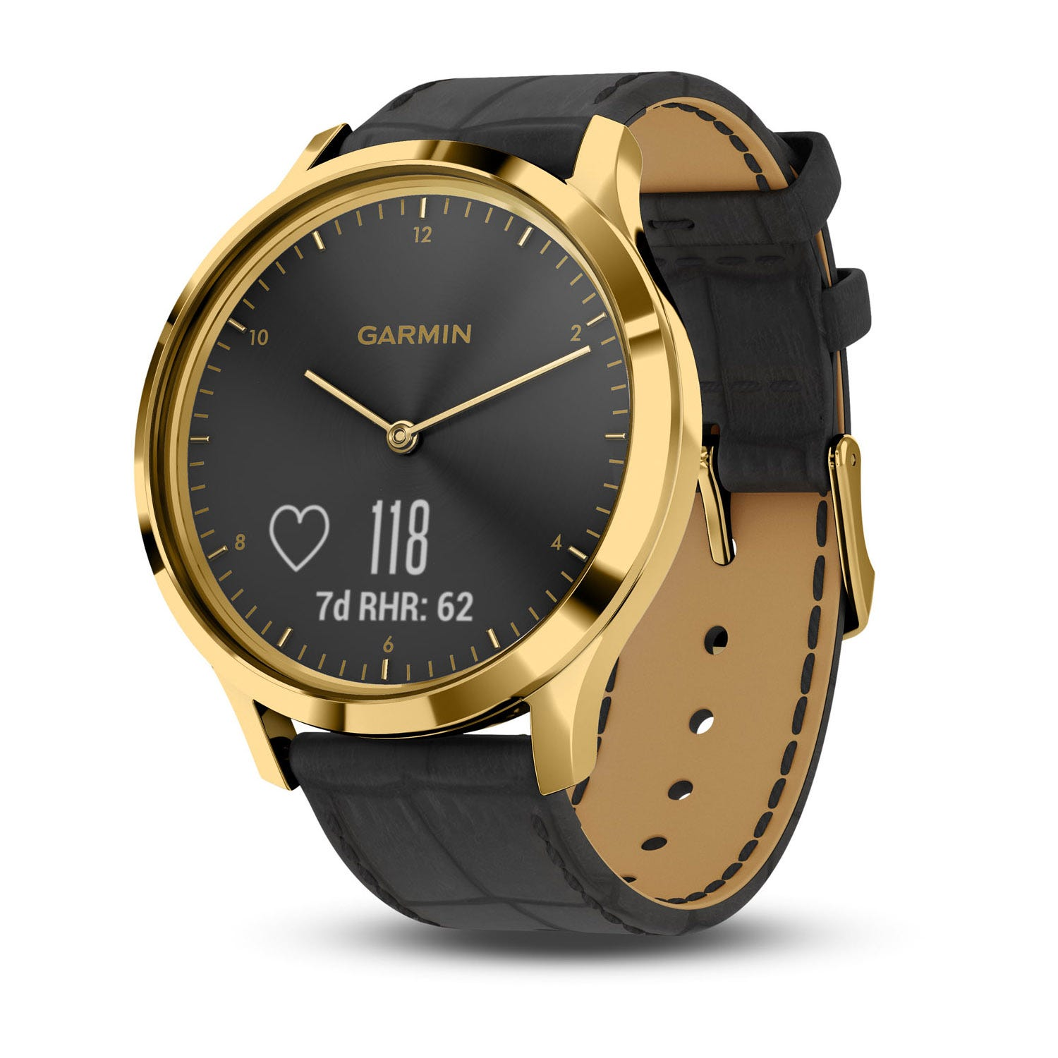 Garmin vivomove HR Premium Black Leather 43mm Smartwatch