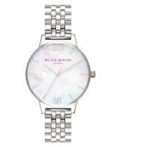 Olivia Burton Mother Of Pearl Silver-Toned Ladies Watch
