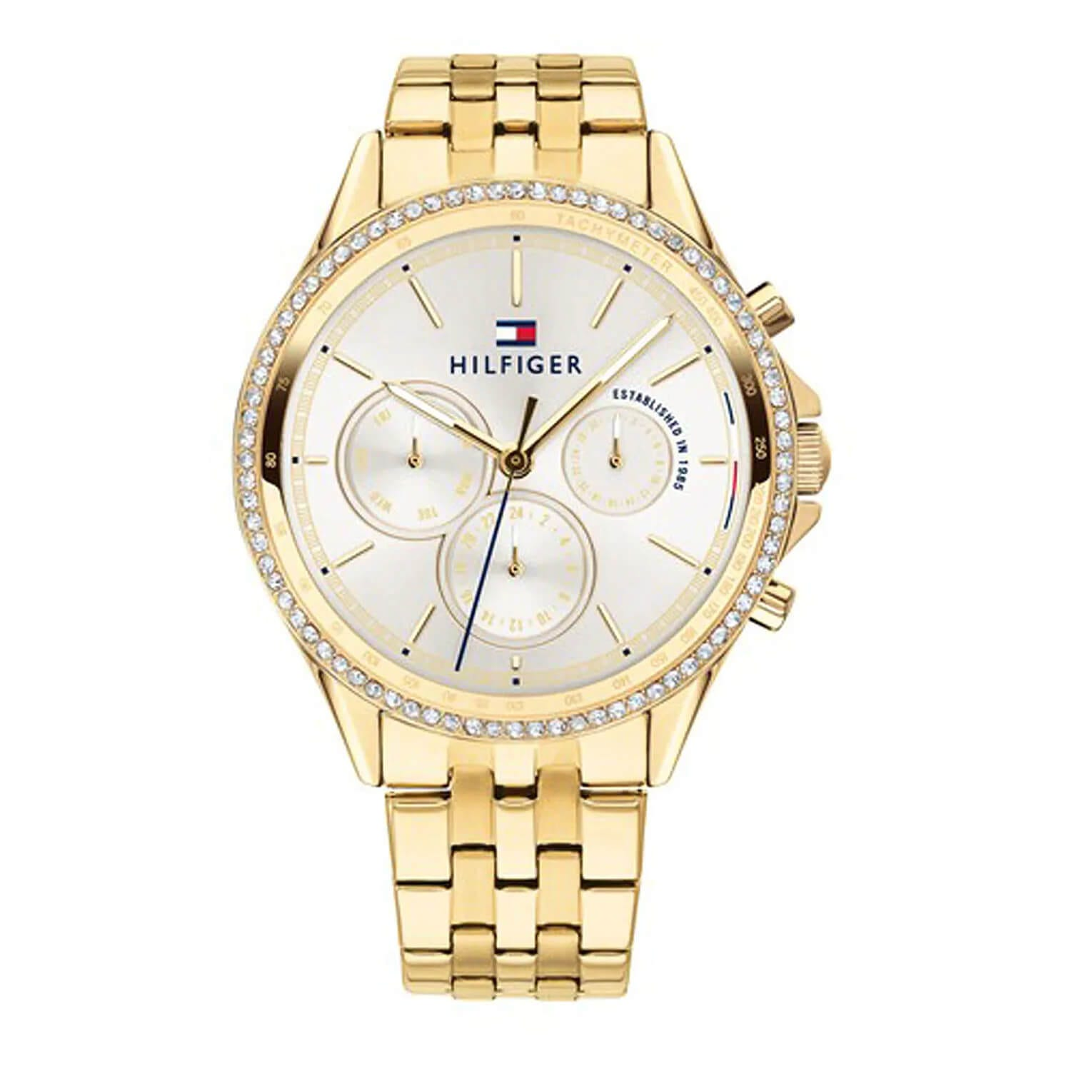 Tommy Hilfiger Chronograph Gold-Tone Stainless Steel Ladies' Watch