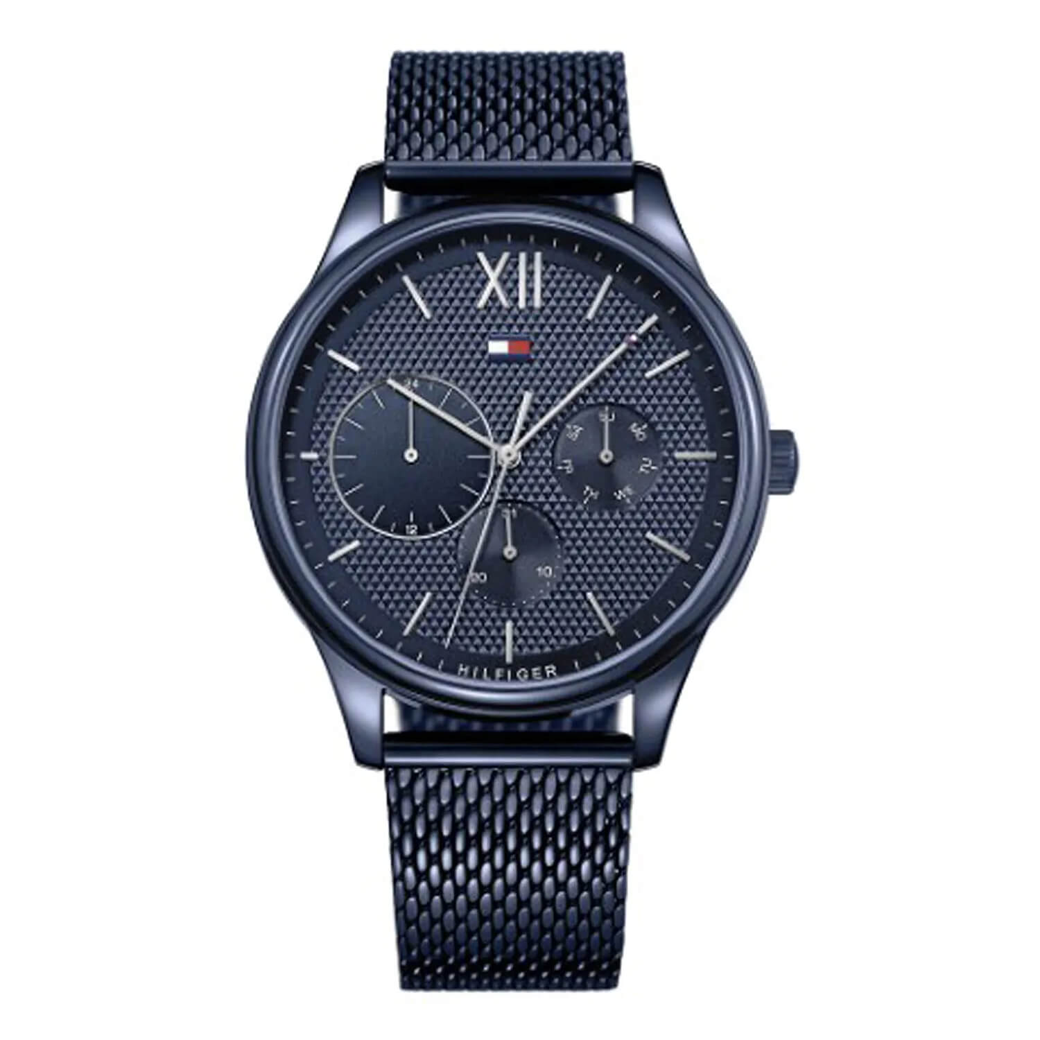 Tommy Hilfiger Chronograph Blue Dial & Blue Steel Mesh Men's Watch