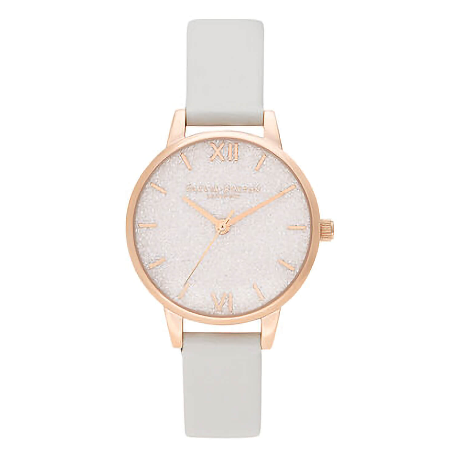 Olivia Burton Rose Gold-Toned Glitter Dial Vegan Ladies Watch