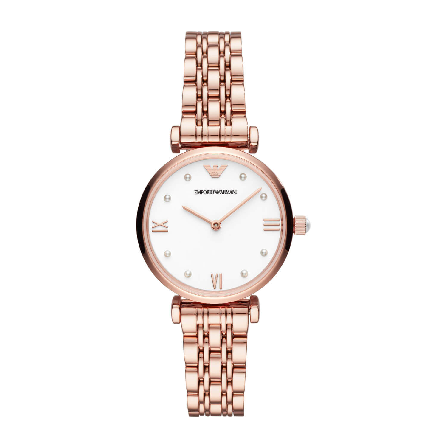 Emporio Armani Rose Gold Plated 32mm Ladies Watch